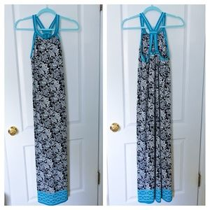 Max Studio Casual Polyester Strappy Maxi Dress NWT